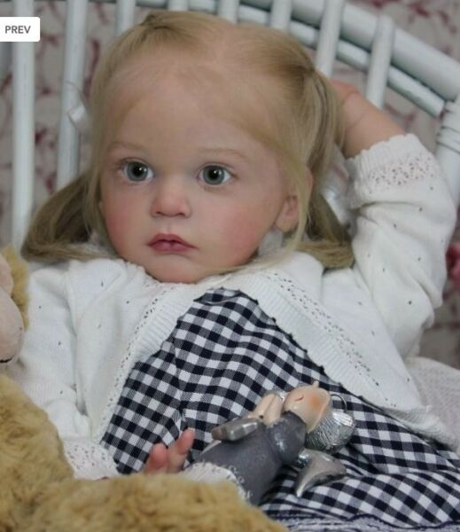"23"" Toddler Full Body Silicone Reborn Dolls Girl Lifelike Newborn Alive Gifts"