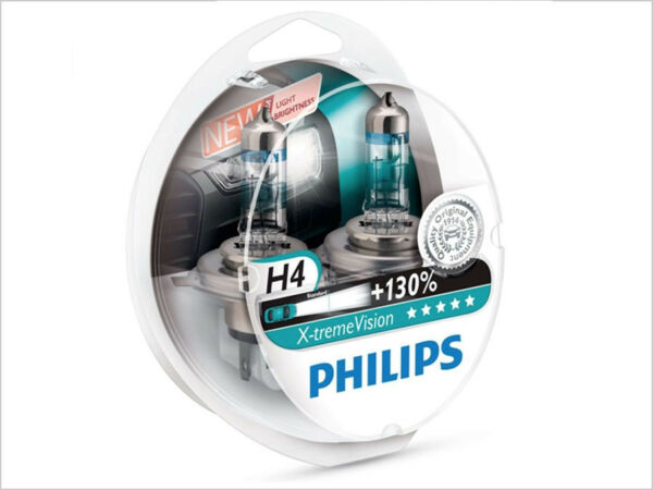 2x NEW PHILIPS XTREME VISION +130% H4 9003 HB2 12342XV+S2 HALOGEN BULBS
