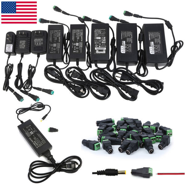 12V 12356810A Power Supply AC to DC Adapter for 5050 3528 RGB LED Strip