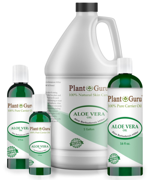 Aloe Vera Oil 100% Pure Cold Pressed Carrier Liquid Organic For Skin Face Hair