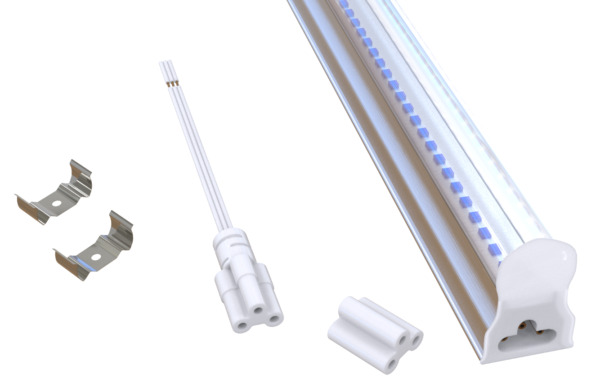 25x 4 Foot LED Complete Light Fixture Surface Ceiling Mount 6000K Daylight White