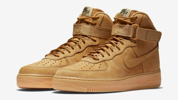 Nike Air Force 1 High '07 LV8 Wb Wheat Flax Gum Brown 882096-200 Men's sz 7.5-13