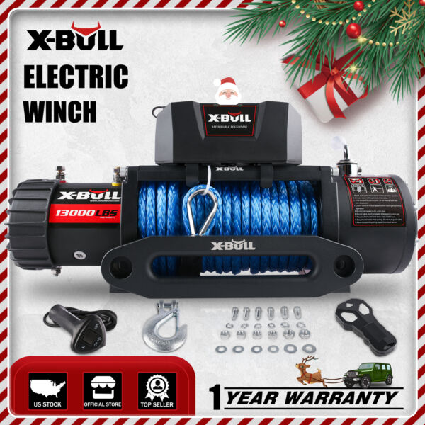 X-BULL Electric Winch 13000lbs 12V Truck SUV Jeep Durable Remote Control 4WD NEW