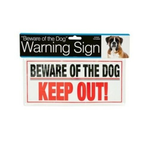Beware of the Dog Sign Keep Out Warning Rigid Plastic W SCREWS SAME DAY SHIP $2.96