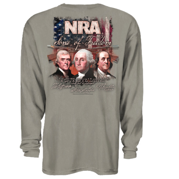 NRA Sons Of Freedom Long Sleeve T Shirt 2nd Amendment Adult XL 3XL Authentic $12.99