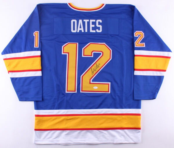 Adam Oates Signed Blues Jersey Inscribed