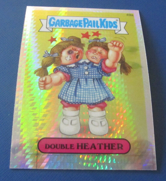 2014 GARBAGE PAIL KIDS CHROME 2 PRISM REFRACTOR #49A DOUBLE HEATHER    NMMT