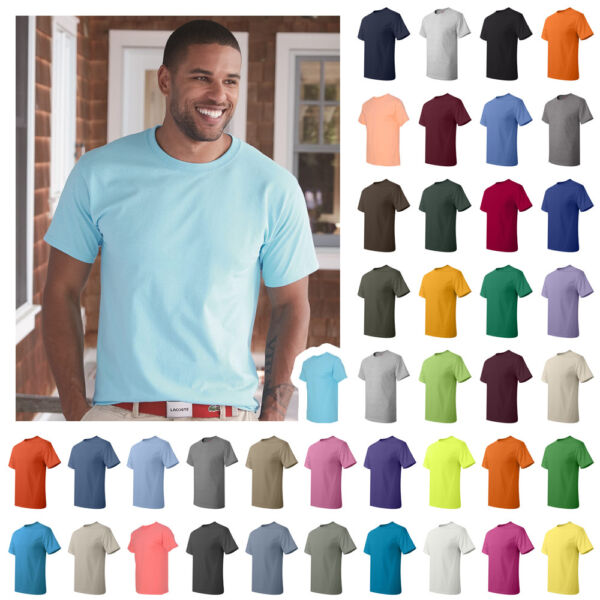 Hanes Mens ComfortSoft 100% Cotton Tagless T-Shirt S-3XL - 5250