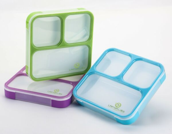 Bento Lunch Box- Stylish Leakproof Lunch Kit with 3 Compartment- Kid