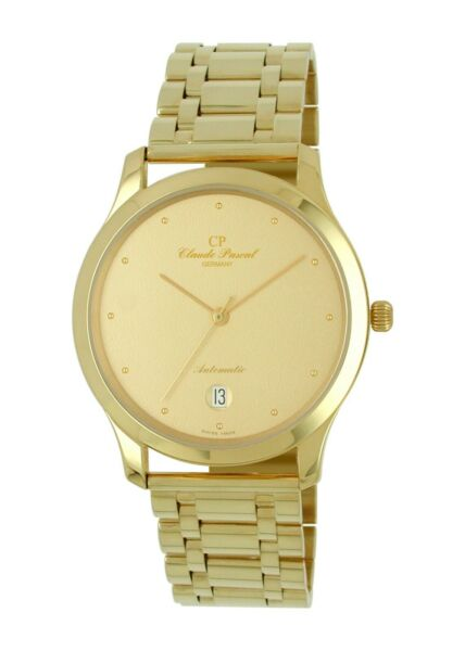 Claude Pascal 394293 Gp Automatic Men's 750 Gold 18-carat Links Wrist Watch