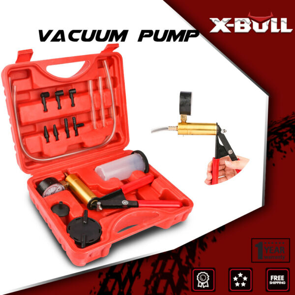 X-BULL Hand-Held Vacuum Pressure Pump Tester Kit Brake Fluid Bleeder