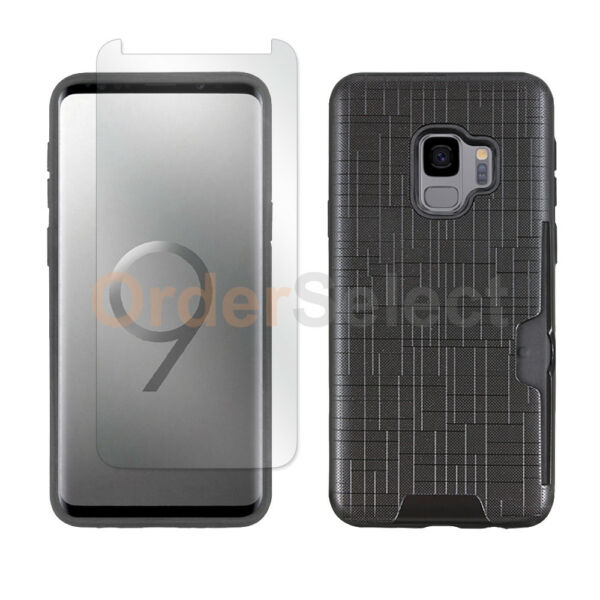 Case Hybrid Shockproof Plastic Cover+LCD Screen Protector for Samsung Galaxy S9