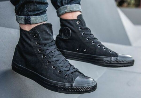 New CONVERSE All Star Chuck Taylor Hi Top Sneaker triple black Mens all sizes