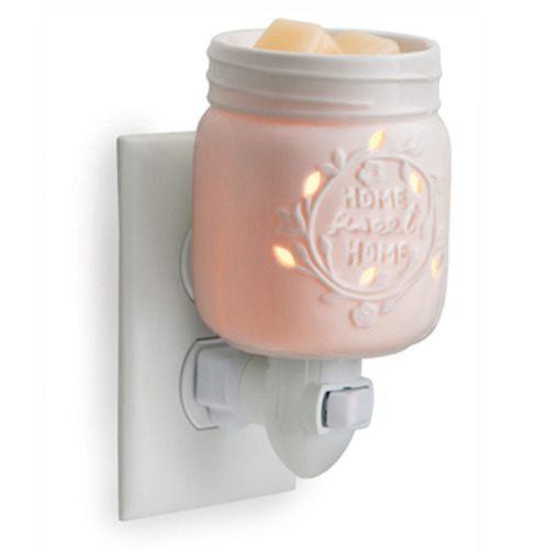 Porcelain Mason Jar Wax Tart Oil Warmer Electric Plug-in Melter New Country