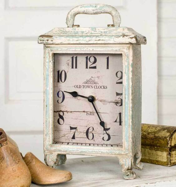 Weathered Rustic Carriage Tabletop or Mantel Clock - Tabletop  Special SALE!