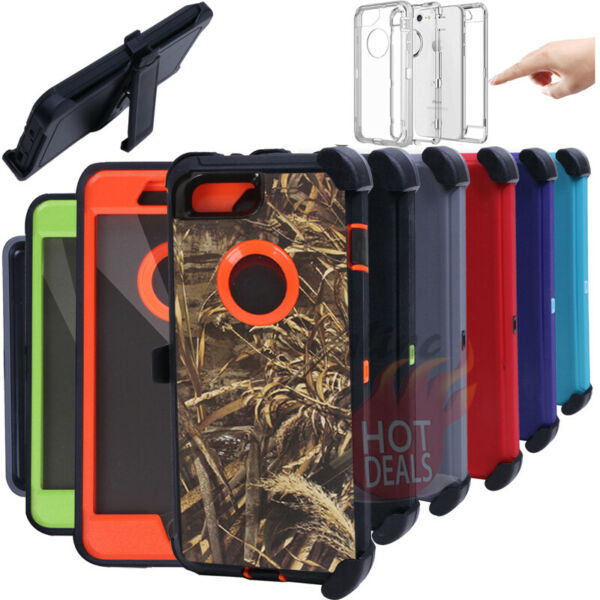 For iPhone 6 7 8 Plus Defender Case With Screen Protector Clip fits Otterbox $9.99