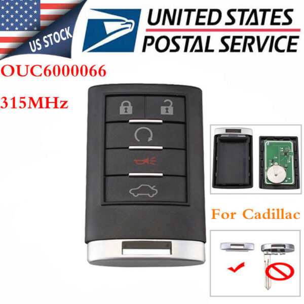 For 2008 2009 2010 2011 2012 2013 Cadillac CTS Keyless Entry Remote Key Fob NEW