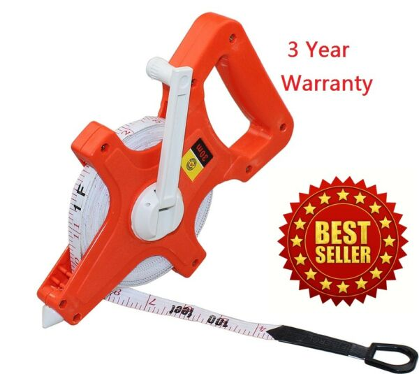 100ft Long Tape Measure Fiberglass Core Use for Landscaping Building Surveying