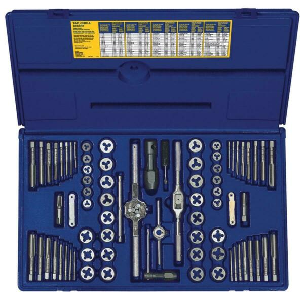 76 pc. SAE and Metric Tap and Die Set Irwin  Hanson  Vise Grip IRW26376