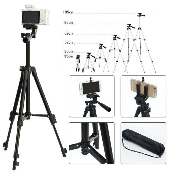 Professional Camera Tripod Stand Holder For Cell Smart Phone iPhone