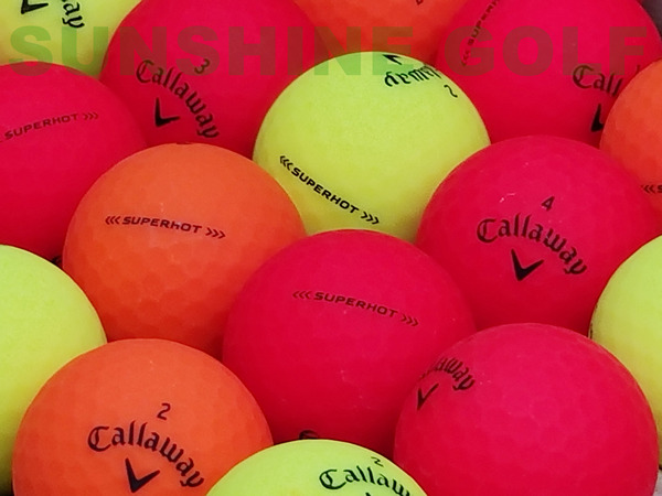 24 Near Mint Callaway Superhot Bold Matte Assorted Color AAAA Used Golf Balls