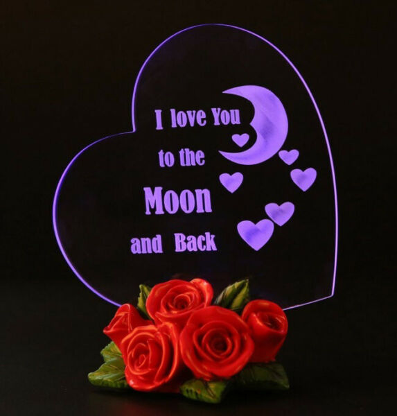 Valentines Day Gift For Girlfriend Him Her Women Wife Girl Ladies Love LED Light $19.49