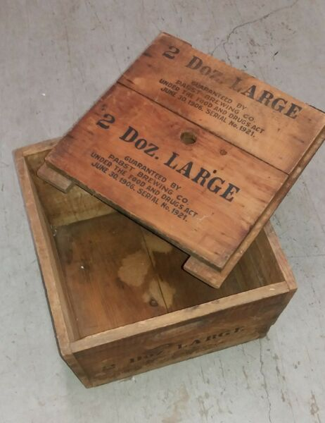 PABST BREWING CO. VINTAGE WOOD CRATE RARITY NICE CONDITION
