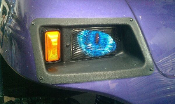 YAMAHA GOLF CART BLUE Eyes ORIGINAL RuKindCover's HeadLight Covers
