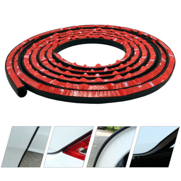 Car Motor Door Big D-shape Rubber Seal Weather Strip OEM Hollow 13FT 4M US Sales