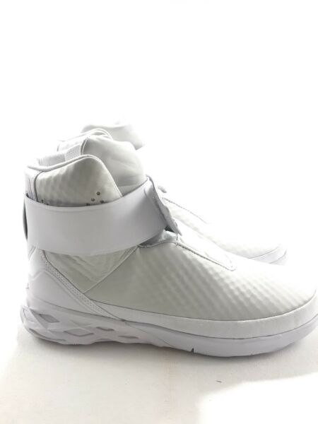 Nike Men Ds Swoosh Hunter Sz 9 White Yeezy SP 832820-101 High Tops Shoes Leather