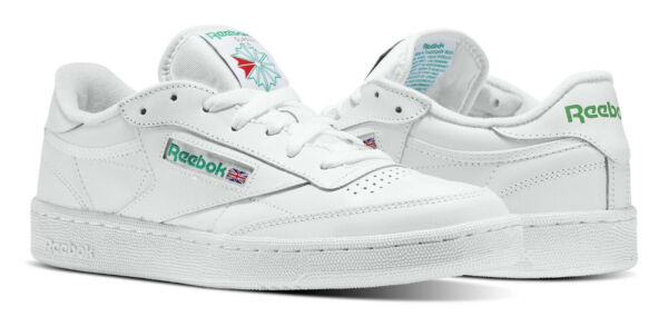 Reebok Classic Club C 85 White, Green Mens Sneakers Tennis Shoes Item AR0456