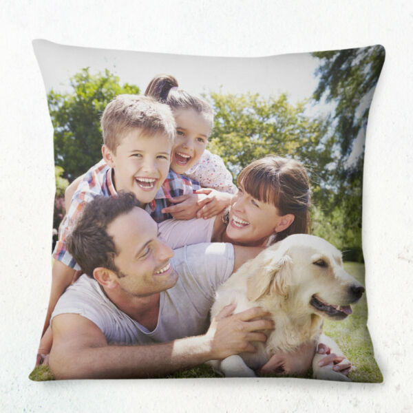 PERSONALISED CUSTOM Cushion Cover 40cm Printed both sides Any Photo Picture text GBP 12.99