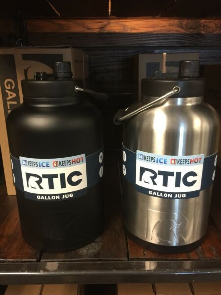 RTIC One Gallon Half Gallon Jug Many Colors Holds Ice Vacuum Insulated Stainless