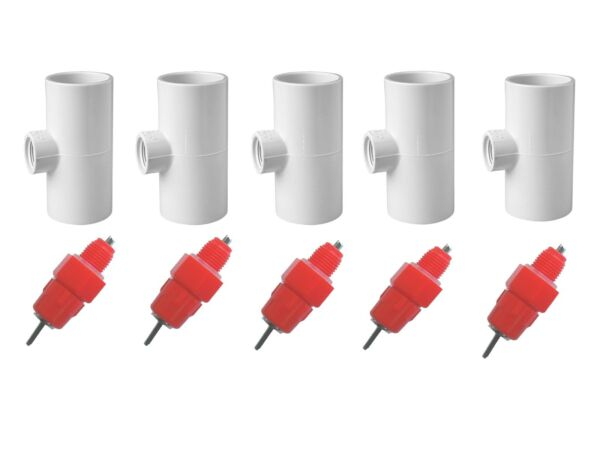 5 Pack Poultry Drinking Nipples - Chicken Hen Automatic Water Drinker  $12.79