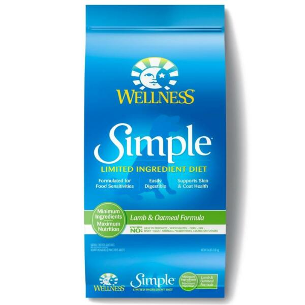 Wellness Simple Natural Limited Ingredient Diet Lamb and Oatmeal Recipe Dry Dog
