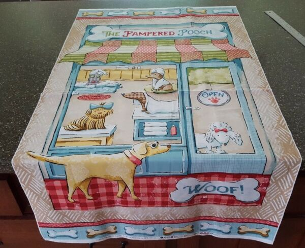 Pampered Pooch Panel 23x42 Steve Haskamp SPX Fabrics Dog Groomer $7.99