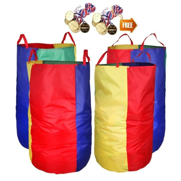 Potato Sack Racing Bags Pack 4 Game Prizes 12 Pc Kids Indoor Outdoor New