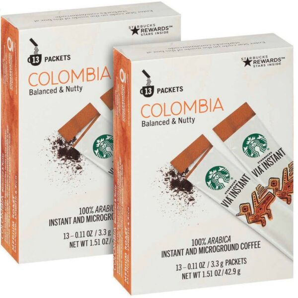 Starbucks VIA Instant Arabica Coffee Colombia Medium Roast  26--208Packs