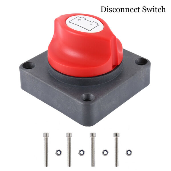 US 600A BATTERY MASTER KILL SWITCH ISOLATOR DISCONNECT ROTARY CUT OFF CAR BOAT