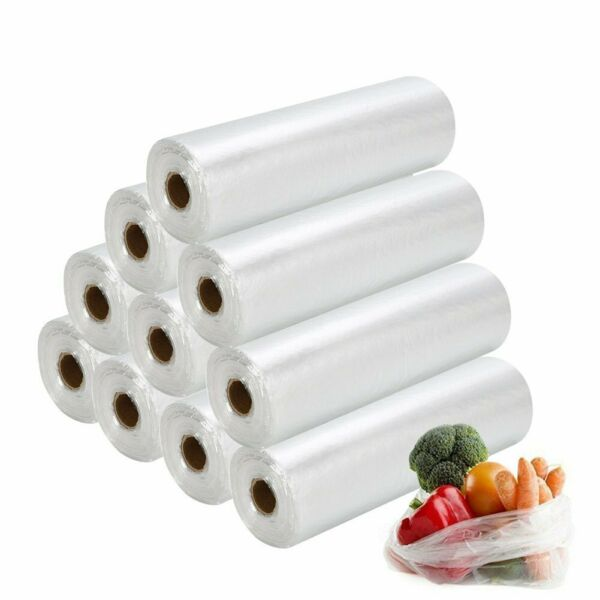Produce On Roll Kitchen Bag Storage Food Fruit Vegetable Food Save Various Sizes