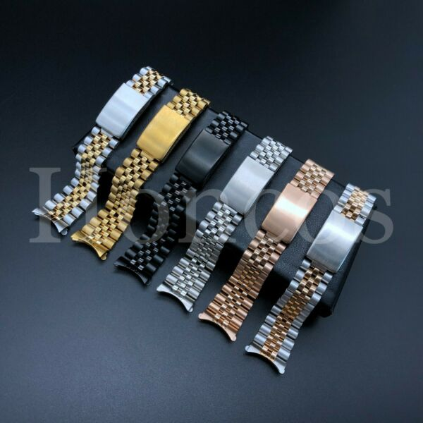 13 19 20 21MM President jubilee Watch Band Bracelet Fits for Rolex Stainless USA