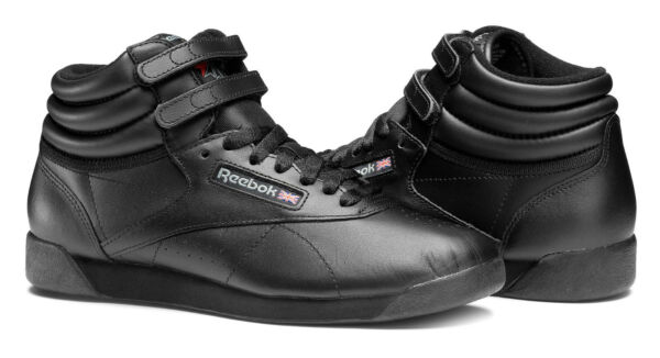 Reebok Hi Freestyle Black Womens Sneakers Tennis Shoes Item 71