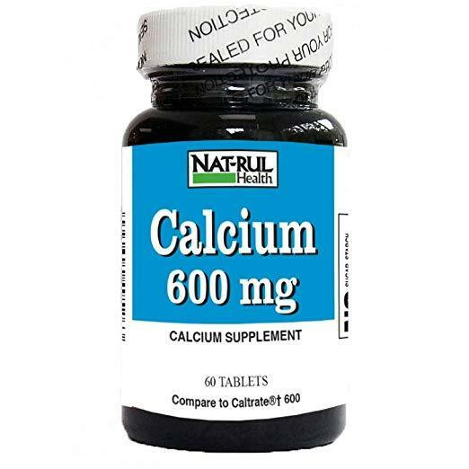 Nat Rul 600 mg Calcium Tablets 60 Ct 3 Pack $23.75