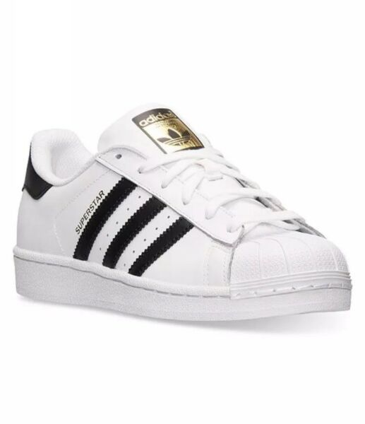 New White Black and Gold Adidas Sneakers