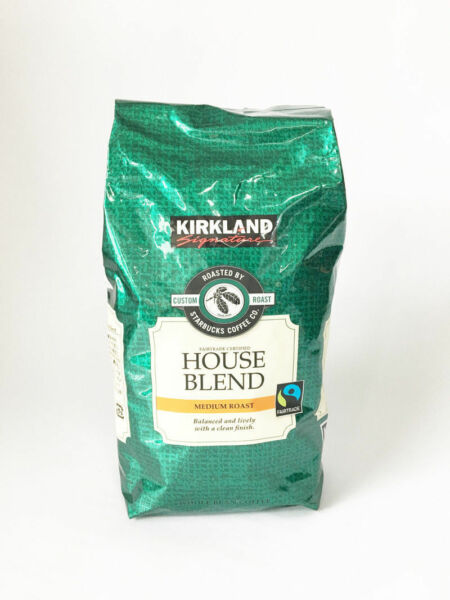 Kirkland Signature Starbucks Fairtrade House Blend Whole Bean Coffee 907g A_r