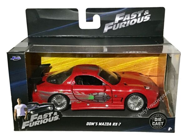 JADA Fast And Furious Dom's Mazda RX-7 1:32 Red Diecast Car