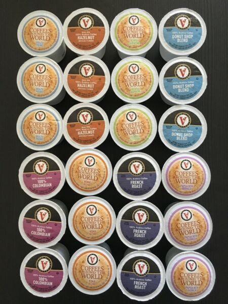 Victor Allen's K-Cups Brew Cups Pods Coffee Sampler Variety Pack 24 Count
