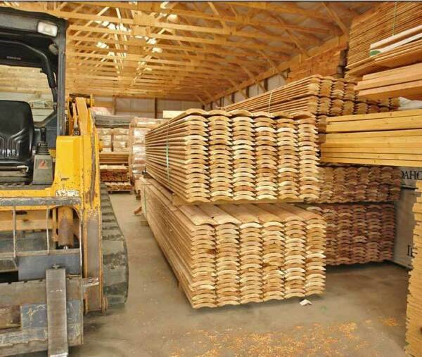 2x8 Western Cedar Log Siding One lot of 6 footers special pricing !!