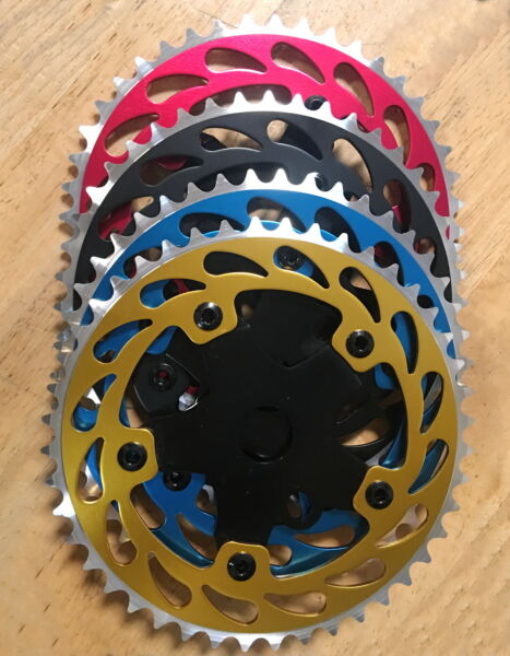 NEW Bicycle ALLOY Sprocket 44T 1 2quot;x1 8 Chainring BMX Cruiser Bike 4 Colors $20.99