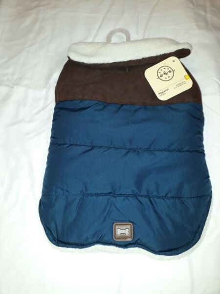 Petco Bond amp; Co Teal and Brown Faux Leather Yoke Wrap Jacket for Dog Size S $15.00
